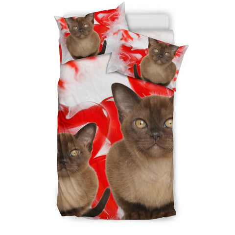 Burmese Cat Print Bedding Set