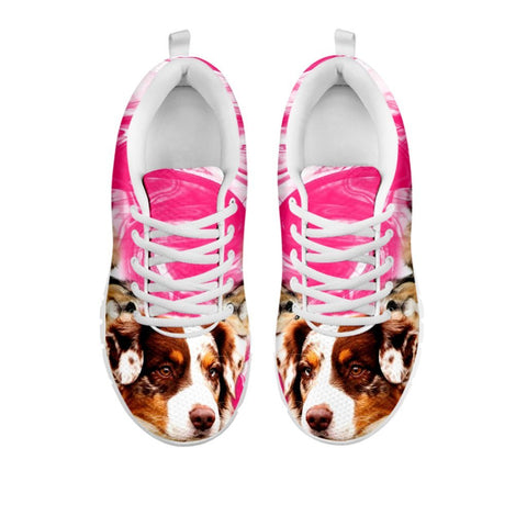 Australian Shepherd Print Sneakers For WomenFor 24 Hours Only