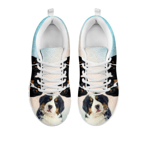 Amazing Three Bernese Mountain Dog Print Running Shoes For WomenFor 24 Hours Only