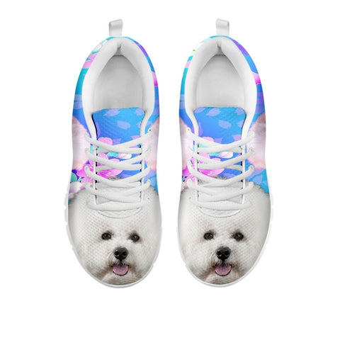 Cute Bichon Frise Print Sneakers For WomenFor 24 Hours Only