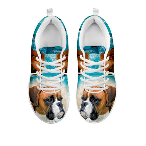 Boxer Dog Print Sneakers For WomenFor 24 Hours Only