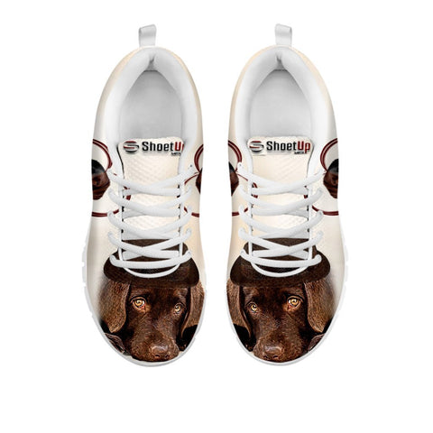 Cute Chocolate Labrador Print Running Shoes For Women For 24 Hours Only