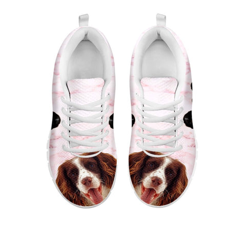 English Springer Spaniel Pink Print Sneakers For WomenFor 24 Hours Only