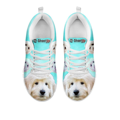 Smiling Goldendoodle Print Sneakers For WomenFor 24 Hours Only