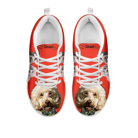 Labradoodle With Bow Tie Print Running Shoes For Women For 24 Hours Only