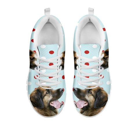 Amazing Leonberger With Red White dots Print Running Shoes For WomenFor 24 Hours Only