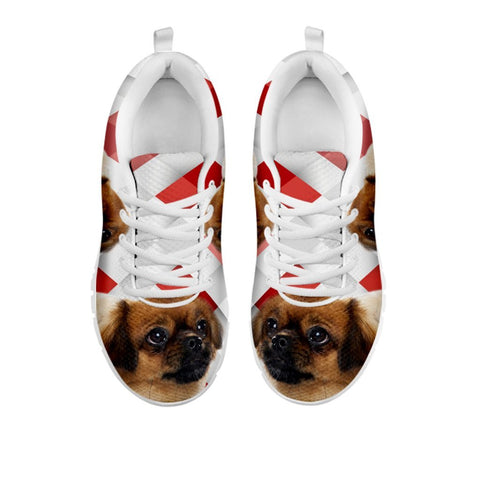 Amazing Tibetan Spaniel Red White Print Running Shoes For WomenFor 24 Hours Only