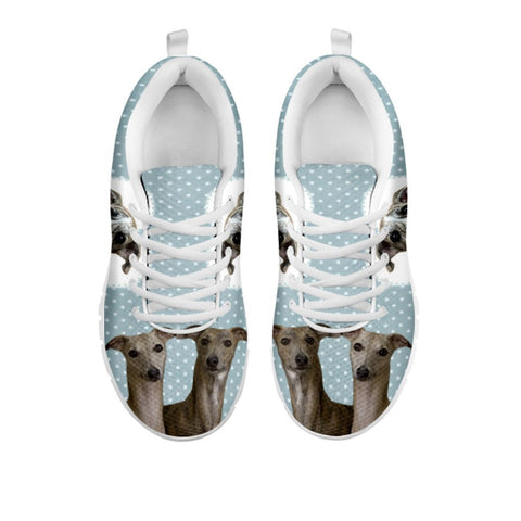 Amazing Whippet With Hearts Print Running Shoes For WomenFor 24 Hours Only