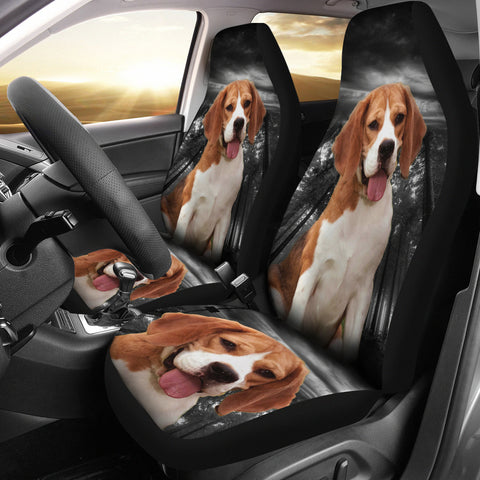 Cute Beagle Dog Print Car Seat Covers