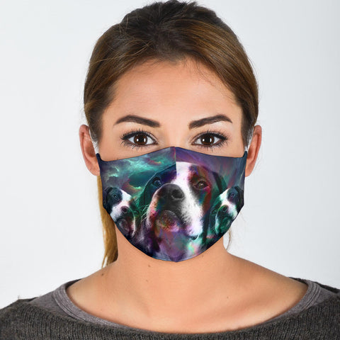 Lovely Pointer Dog Print Face Mask