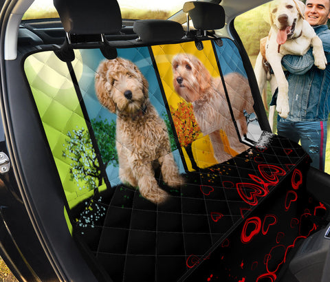 Labradoodle Print Pet Seat Covers