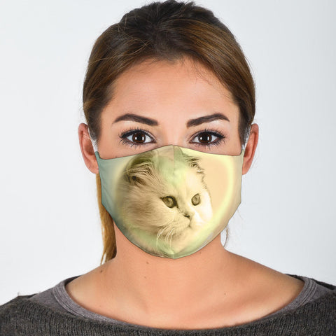 Cute Persian Cat Print Face Mask