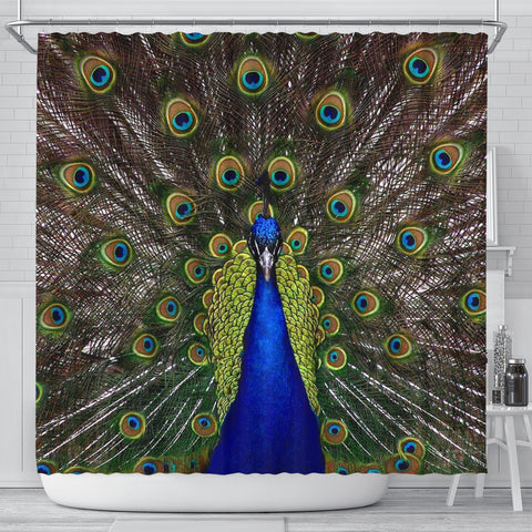 Lovely Peacock Bird Print Shower Curtains