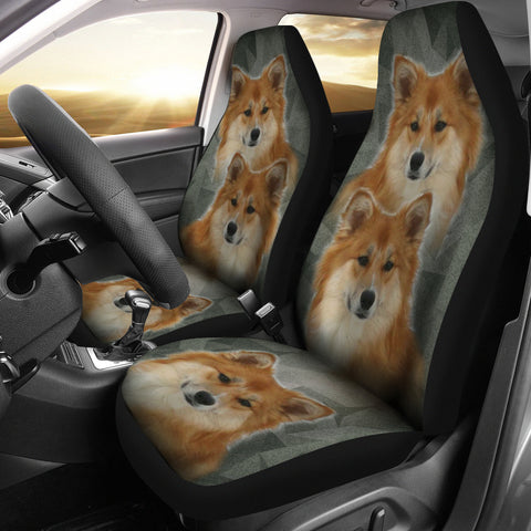 Cute Icelandic Sheepdog Print Car Seat Covers