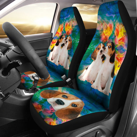 Cute Beagles Print Car Seat Covers