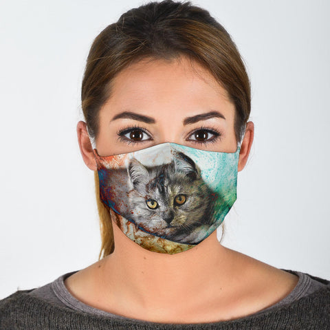Exotic Shorthair Colorful Print Face Mask