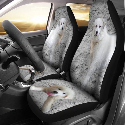 Great Pyrenees Dog Print Car Seat Covers