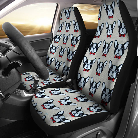 French Bulldog Pattern Print Car Seat Covers