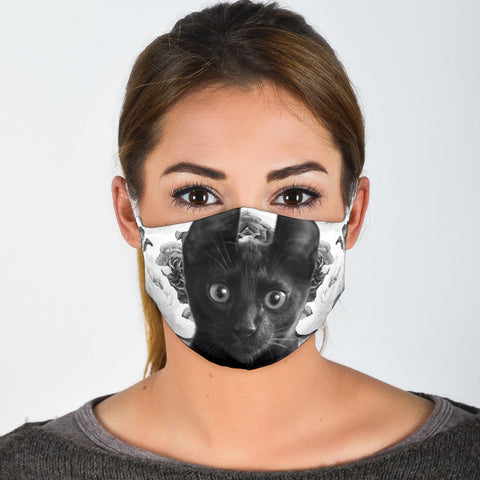 Bombay Cat Print Face Mask