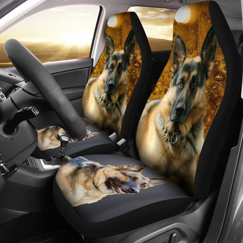 German Shepherd Print Car Seat Covers