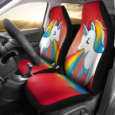 Unicorn rainbow Print Car Seat Covers