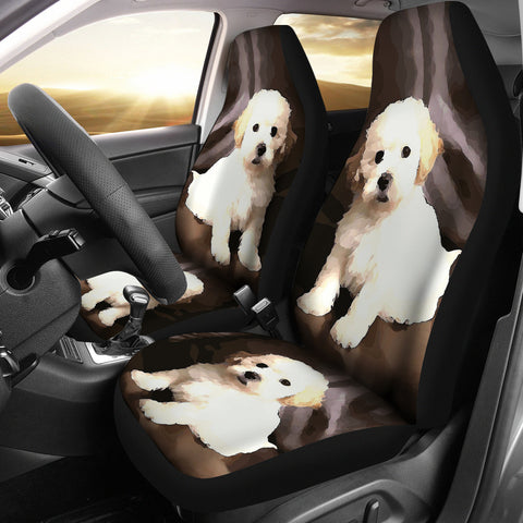 Shih poo Dog Print Car Seat Covers