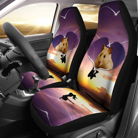 Syrian Hamster Print Car Seat Covers