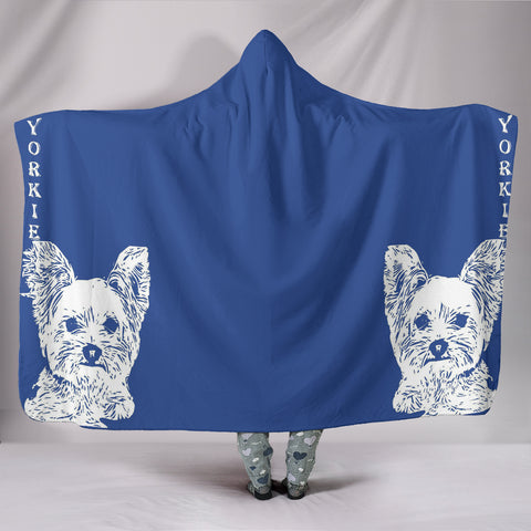 Yorkshire Terrier (Yorkie) Print Hooded Blanket