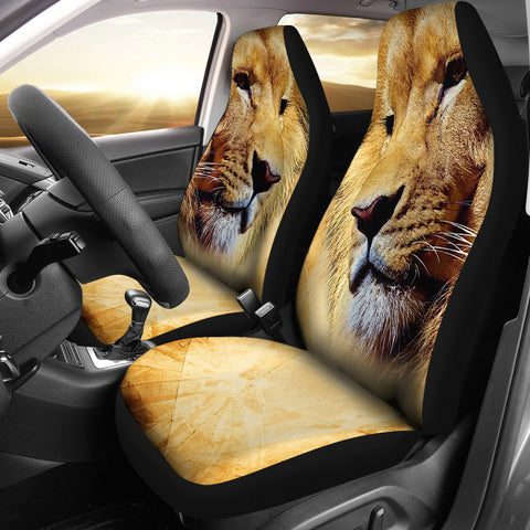 Lion Face Print Car Seat Covers
