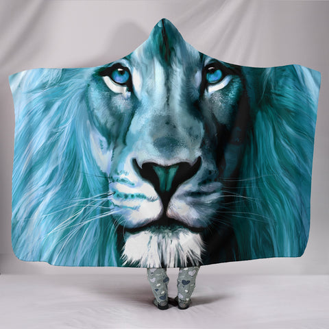 Lion Art Print Limited Edition Hooded Blanket