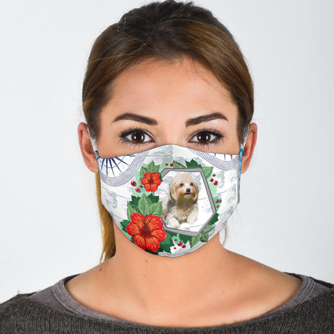 Havanese Dog Print Face Mask