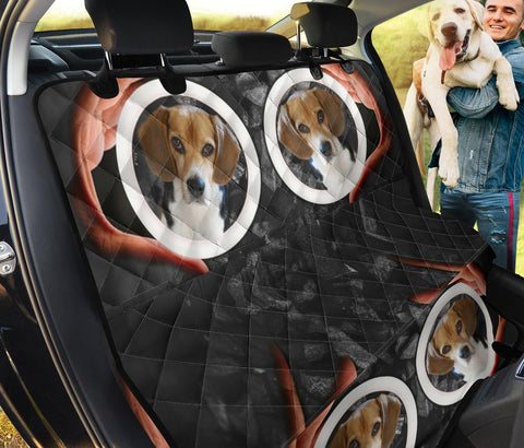 Beagle In Circle Print Pet Seat Covers