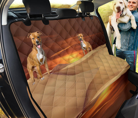 Lovely American Staffordshire Terrier Print Pet Seat Covers