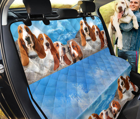 Basset Hound On Mount Rushmore Print Pet Seat covers