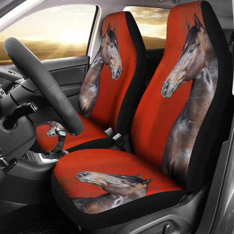 Thoroughbred Horse Print Car Seat Covers