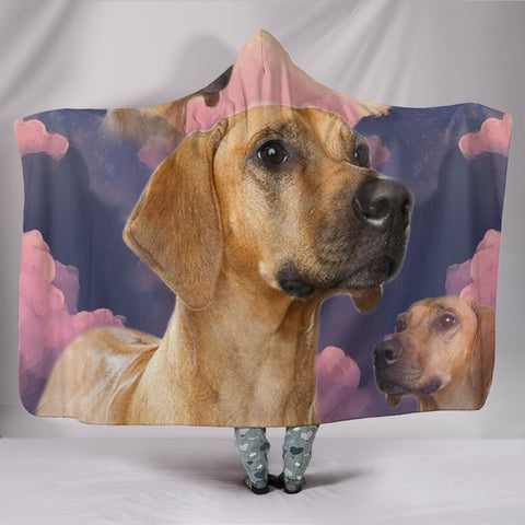 Rhodesian Ridgeback Dog Print Hooded Blanket