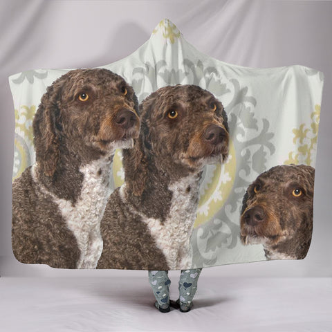 Amazing Spanish Water Dog Print Hooded Blanket