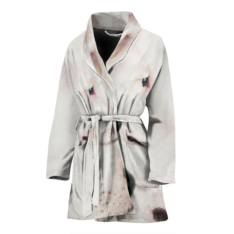 Dogo Argentino Dog Print Women's Bath Robe