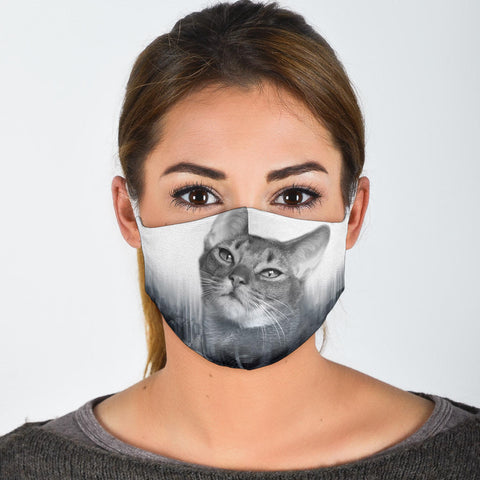 Abyssinian Cat Print Face Mask