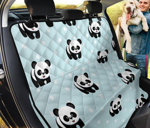 Panda Patterns Print Pet Seat Covers