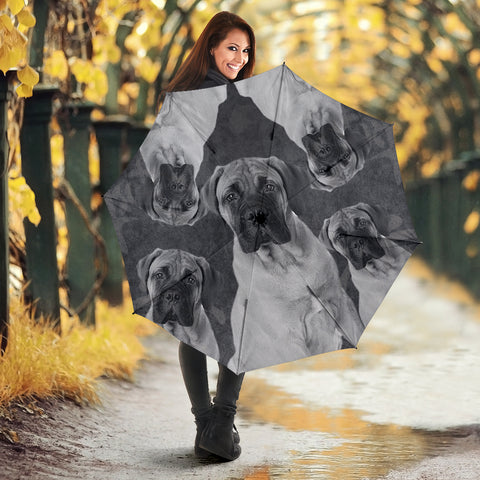Lovely Bullmastiff Print Umbrellas