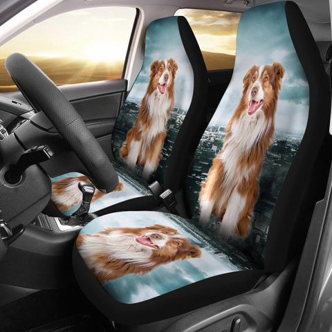 Cute Australian Shepherd Print Car Seat Covers