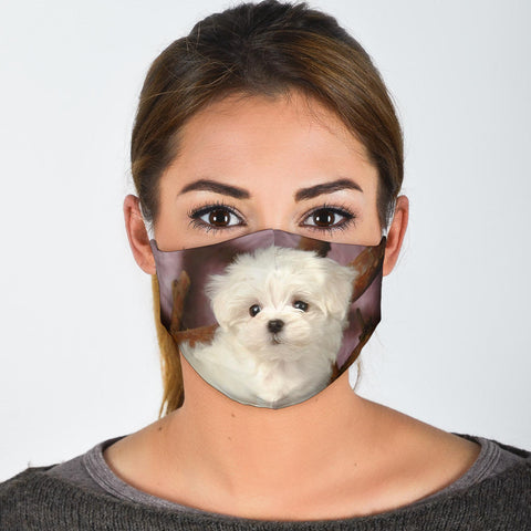 Lovely Maltese Print Face Mask