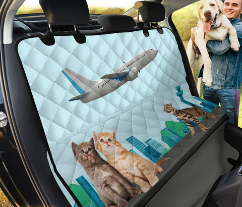 Happy Cats Print Pet Seat Covers