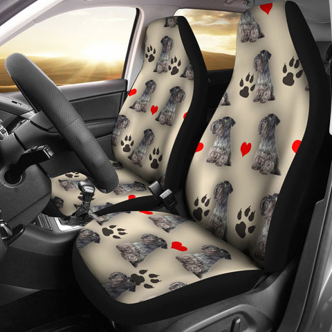 Cesky Terrier Dog Print Car Seat Covers