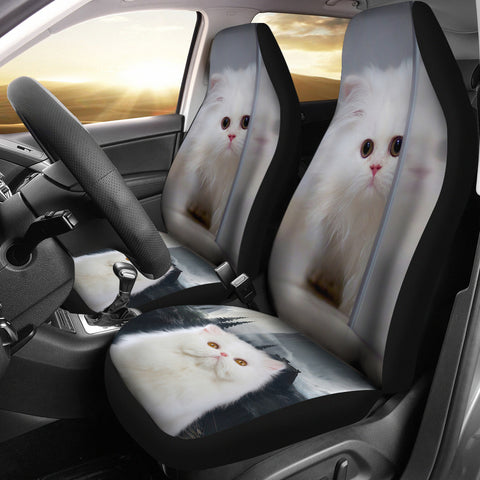 White Persian Cat Car Seat Covers
