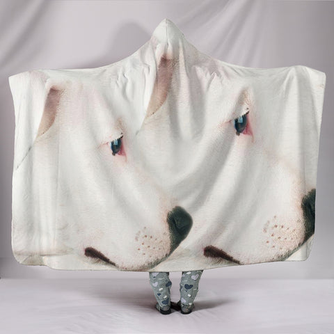 Amazing Dogo Argentino Dog Print Hooded Blanket