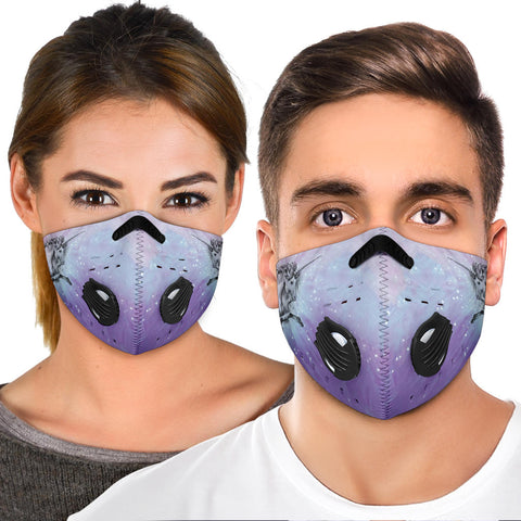Flying Unicorn Print Premium Face Mask