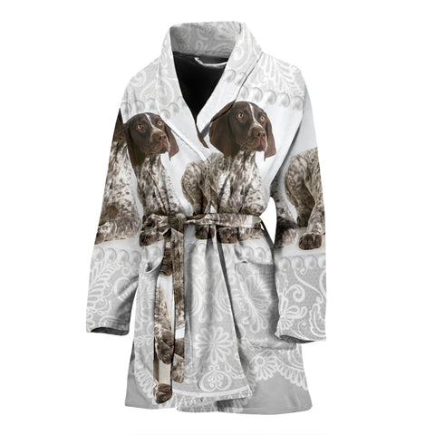 Amazing English Springer Spaniel Dog Print Women's Bath Robe
