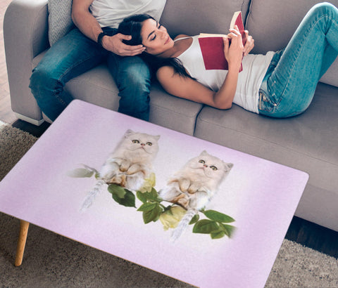 Persian Cat Print Rectangular Coffee Table